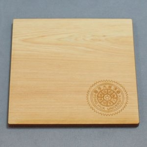 WOOD05-檜木原木杯墊(logo小面積雕刻)