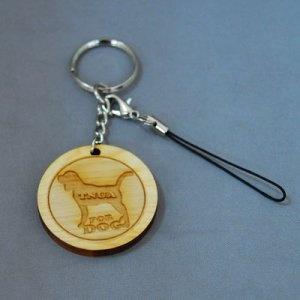 WOOD02  檜木鑰匙圈&手機吊飾(小)