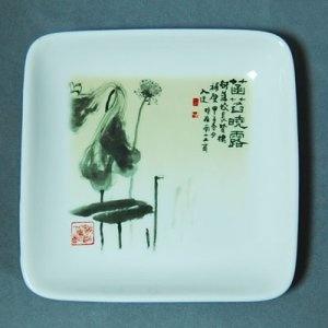 TD12 正方形紀念瓷盤(約12.5cm)