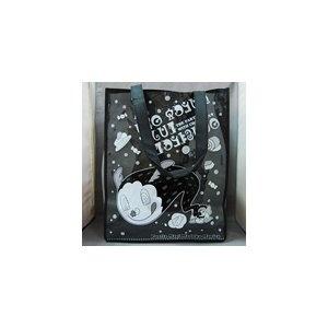 正面PVC透明塑膠片不織布手提袋(有側寬)_網版印刷(500個起做)