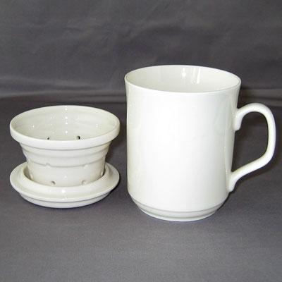 新骨瓷三件式濾茶杯